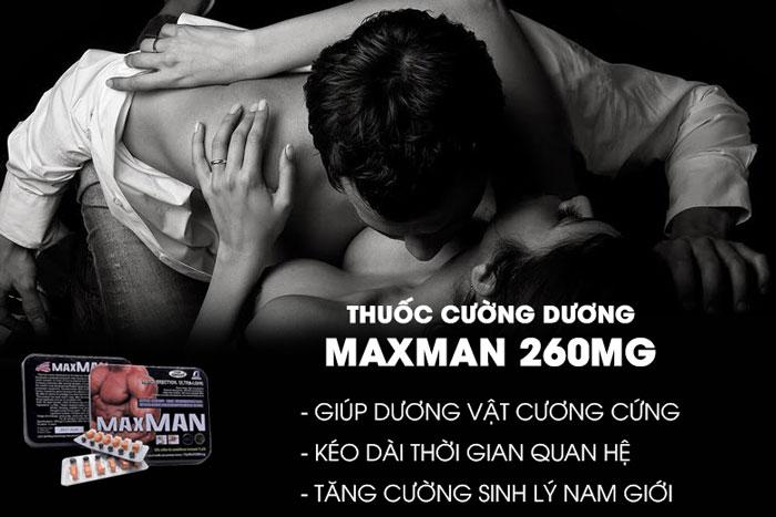 Maxman 260mg Thuốc Cương Dương Chính Hãng Dành Cho Nam Giới