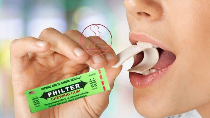 Tác dụng của kẹo kích dục nữ PHILTER CHEWING GUM